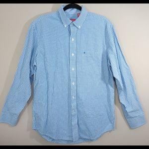 Izod Long Sleeve Button Up Shirt Size Medium